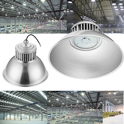 2x 100W LED High Bay Light Bright White Factory Warehouse Industry Shop Lighting