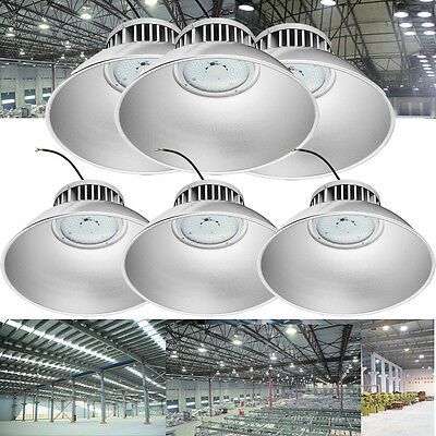 6x 100W LED High Bay Light Bright White Factory Warehouse Industry Shop Lighting