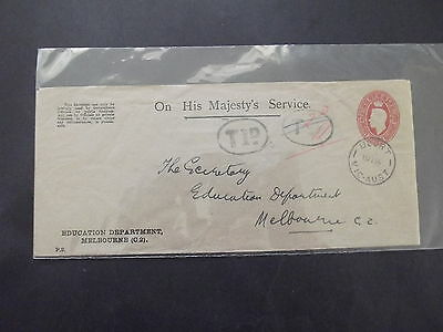 AUSTRALIA Part of Officials Collection:2½d RED KGV EMBROSSED COVER '' RARE ''
