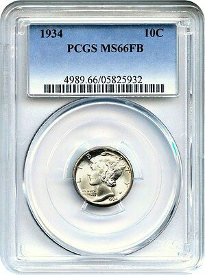 1934 10c PCGS MS66 FB - Mercury Dime
