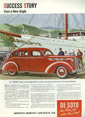 Success Story from a New Angle De Soto 4-door Sedan ad 1937 DeSoto T