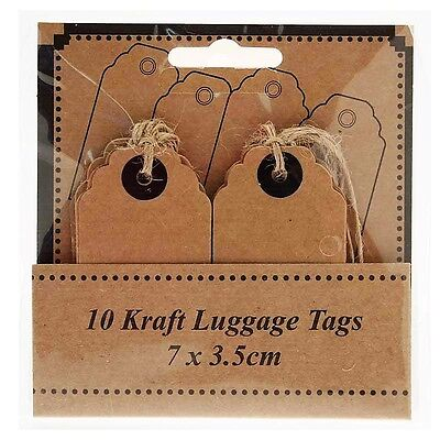 10 Kraft Luggage Tags Personalised Wedding Gift Vintage Shabby Chic