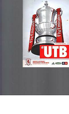 PROGRAMME - MIDDLESBROUGH v OXFORD UNITED - FA CUP - 18 FEBRUARY 2017