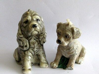 Spaniel & Terrier Wax Candle Figures