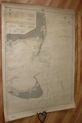 Old Working 1901 Nautical Chart Nantucket Sound & Eastern  Approaches  USC &GS