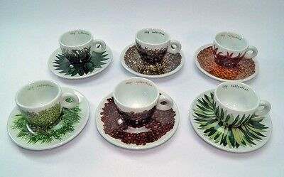 ILLY COLLECTION 6 tazzine espresso Francis Ford Coppola Texture 2000 cup