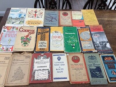 Large Collection Of Old Maps. Collectible.