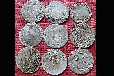 Lot Of 9 Silver Late Medieval Hammered Coins - Superb Coins