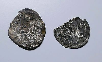 Italian States, Medieval, One Soldino Silver Pieces x2 for Further Research