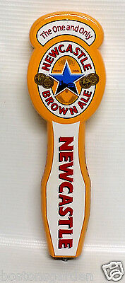 """The One&Only NEWCASTLE Brown Ale Bar Keg Tap Wood Handle,10"""" Bugaboo Creek MAINE"""