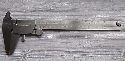 MOORE & WRIGHT VERNIER CALIPER , INCH AND MM in original plastic sleeve