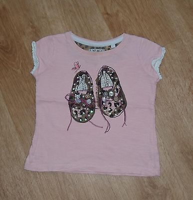 NEXT Baby Girls T-Shirt 12-18 months Shoes Picture with Leopard Print