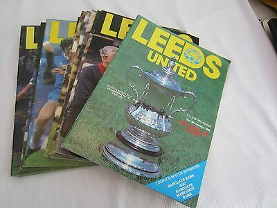 1979-801 Div 1 Leeds United Batch Of 25 Home Inc 1 Lc,2 Europ & 1 Fac Programmes