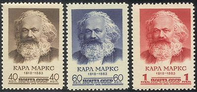 Russia 1958 Karl Marx/People/Politics/Government/Communism 3v set (n33495)