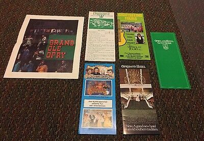 1982 Grand Ole Opry Show Program Brochures Opryland Hotel Souvenirs Tennessee