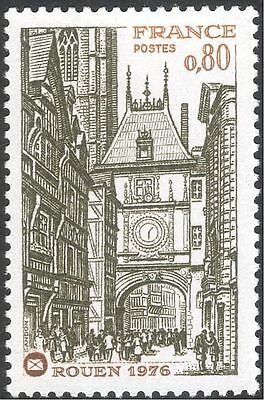France 1976 Philatelic Congress/Rouen/Clock Tower/Buildings/Heritage 1v (n43823)