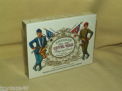 Civil War Cards American 1861 1865 Playing US Game System CW55 Fournier Spain