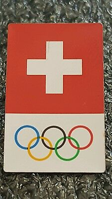 2016 Rio Olympic SWISS  COMMITTEE  NOC pin