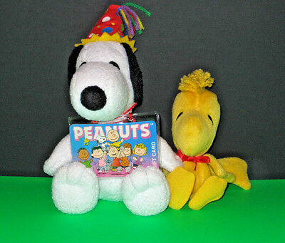 Camp SNOOPY birthday snoopy with hat Woodstock Plush PEANUTS lot