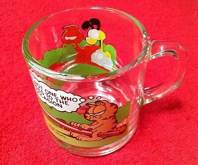 McDonald's Garfield Glass Coffee Mug