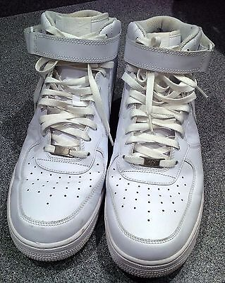 Nike  white leather trainers size 13 mens