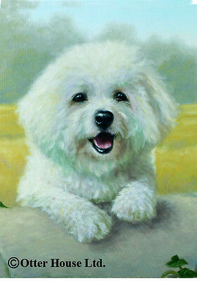 Large Indoor/Outdoor Portrait Flag - Bichon Frise (JS) 50037