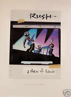 Rush - SHOW OF HANDS [2006] Poster - VG++
