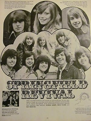 The Springfield Revival, The Osmonds, Full Page Vintage Clipping