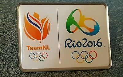 2016 Rio Olympic TEAM NL NETHERLAND HOLLAND DATED NOC pin