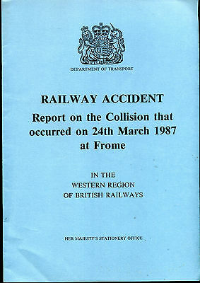 1987 RAILWAY ACCIDENT REPORT Collision FROME NORTH JUNCTION Yeovil   Cardiff