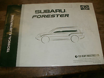 Genuine Subaru Forester 1997 Technical Illustration Manual T8010Ge9