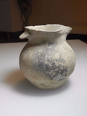Zurqieh -  Beautiful Iron Age Terracotta Beer ? Jug , 1200 - 1000 B.c
