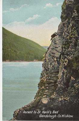 Vintage Postcard Ascent to St. Kevin's Bed Glendalough co. Wicklow Unposted