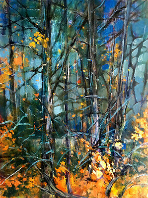 Vail Colorado Autumn Trees  24x18 in.Oil on stretched canvas Hall Groat Sr.
