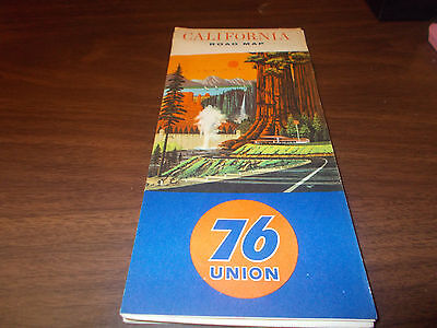 1965 Union 76 California Vintage Road Map