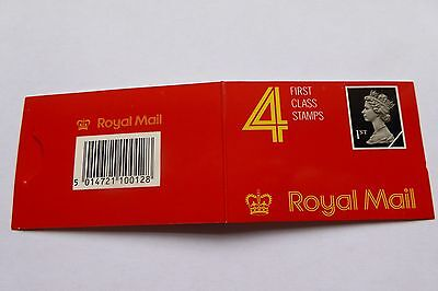 GB Stamps: Decimal Machin Barcode Booklet HB1. No perforations on 3 sides rare