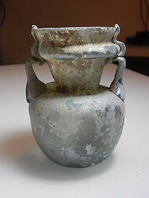 Zurqieh - Ancient Jordan. Roman Glass Jar. 300 - 400 A.d