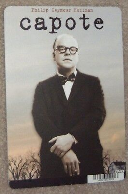 Capote movie backer art card Phillip Seymour Hoffman (this is not a movie)