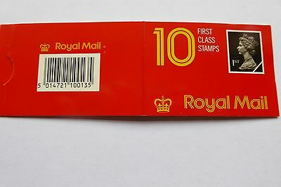 GB Stamps: Decimal Machin Barcode Booklet HD1. No perforations on top and bottom