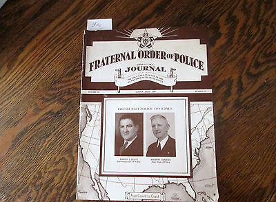 Vintage 1946 Fraternal Order of Police Official Journal Magazine Pittsburgh PA 5