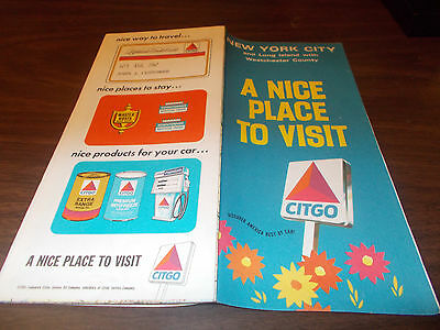 1969 Citgo New York City / Long Island Vintage Road Map