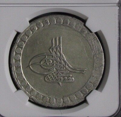 AH 1171//5  Turkey1  Piastre NGC AU Details - Scratches