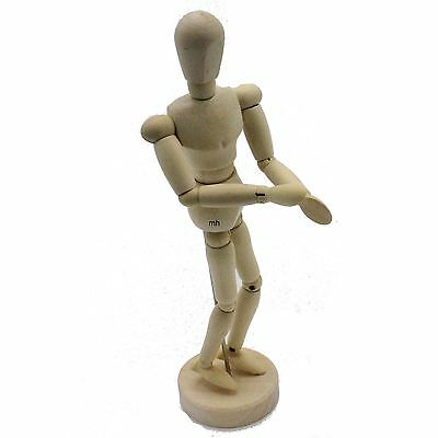 """Jakar Manikin Artists' Drawing Wooden 30cm 12"""" Jointed Lay Figure Mannequins"""