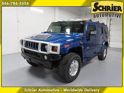 2006 Hummer H2 Base Sport Utility 4-Door 06 Hummer H2 Pacific Blue 4WD Leather Sunroof Bose Audio