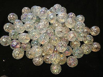 10 x 14mm Snowflake HOM Glass Marbles Collectors or traditional game solitair