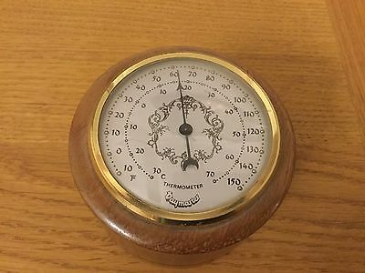 Wooden Paperweight Thermometer