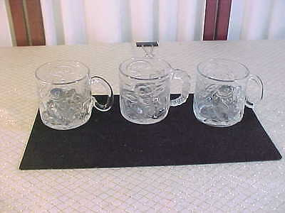 3-1995 Batman Forever/McDonald's Riddler/Two-Face Glass Collector Mugs