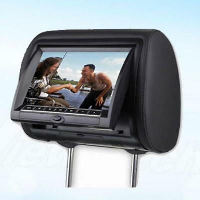 "7"" Black Car Headrest Monitors w/DVD Player/USB/FM TransmitterI+Games"