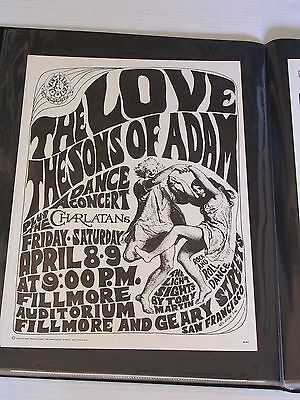 FD004 SONS OF ADAM &THE LOVE FILLMORE CONCERT POSTER by WES WILSON & CHET HELMS