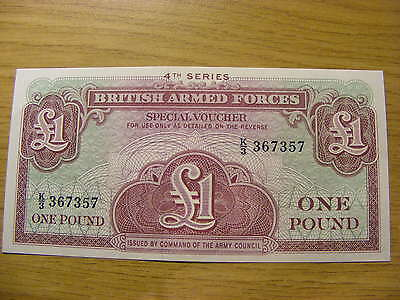 4th Series British Armed Forces 1 Pound Banknote - UNC   Seriel Number K3 367357